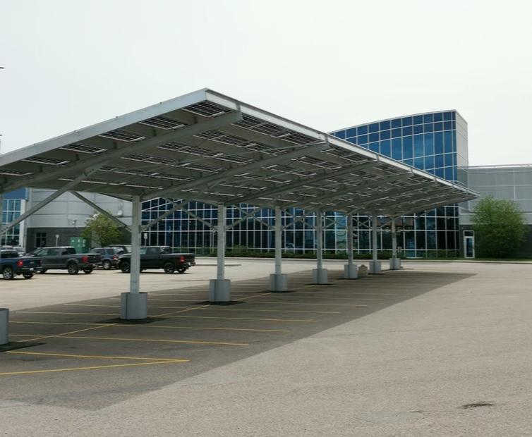 Carport Solar Panel Structure - Saskatchewan