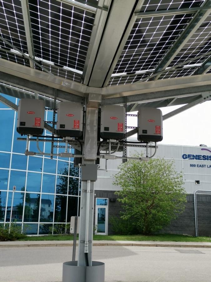 Prairie Sun Solar - Solar Panel Carport Structure