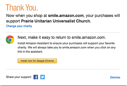 Donate through Amazon