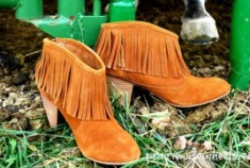 Prairie Wife fringe booties