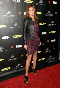 Cindy Crawford at R&R Hall of Fame