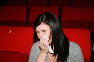 mom crying at movie