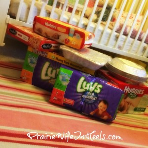 diapers and food