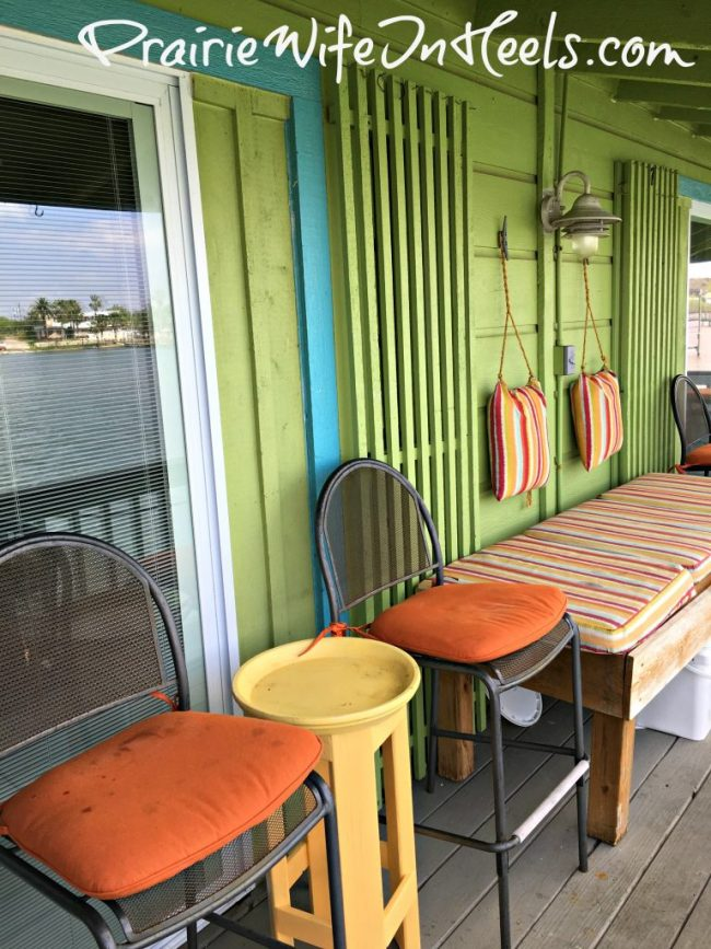 Texas Coast rental deck