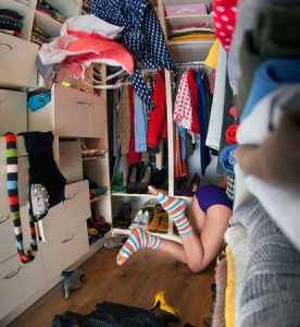 looking in closet