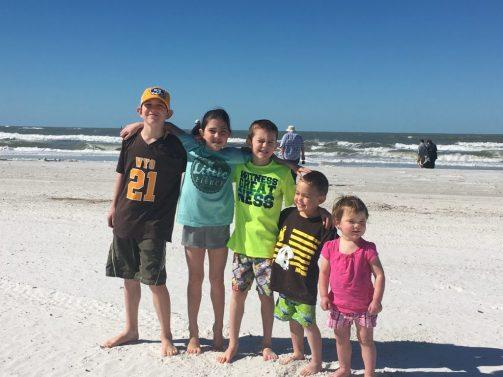 Cowkids at the beach