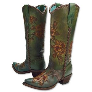 King ranch hand painted boots