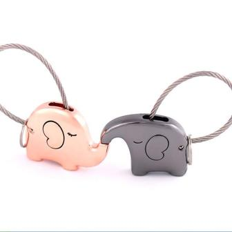elephant love keychain