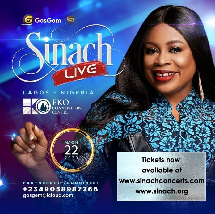 PLAN TO ATTEND: Sinach Set To Hold Live Concert In Lagos