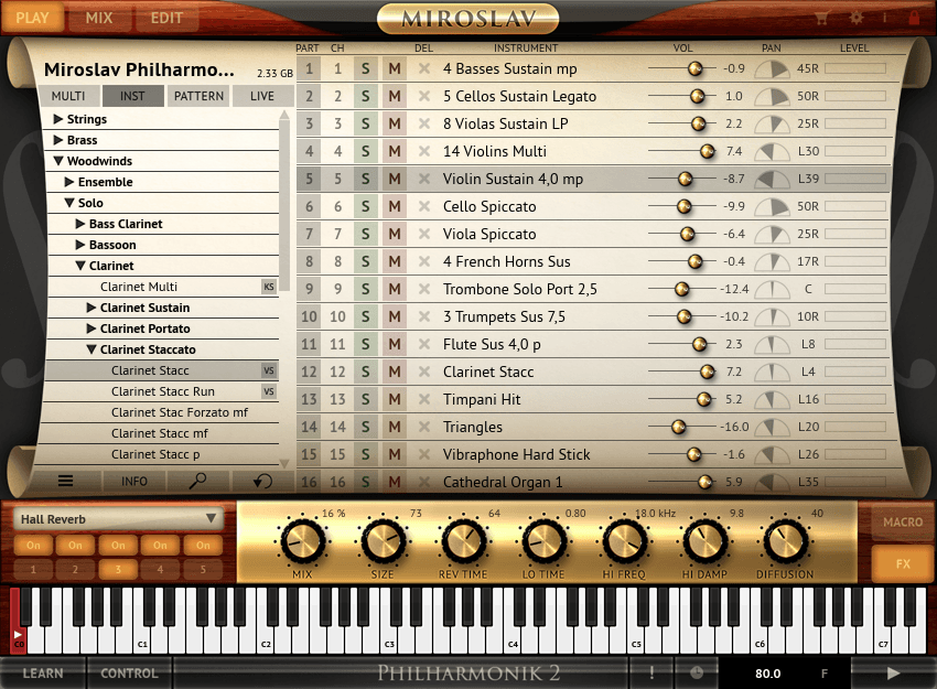 Philharmonic 2 Play Screen