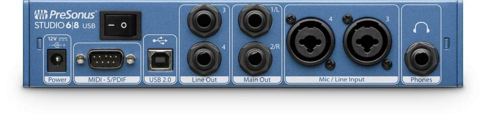 PreSonus Studio 6|8 Back Panel