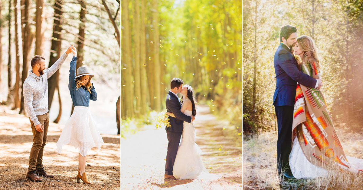 Breathe In The Autumn Air! 20 Epic Fall Engagement Photo