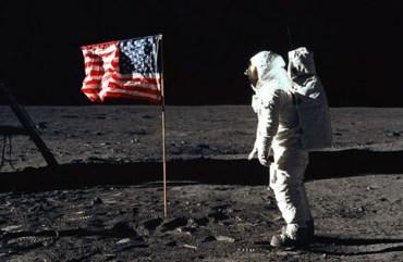 Flag on moon