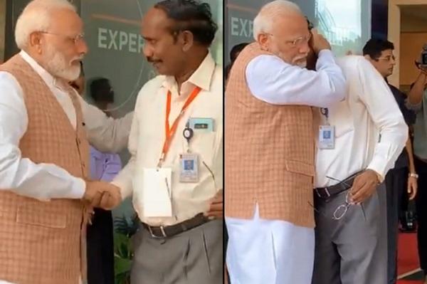 PM Modi hugs Sivan, ISRO