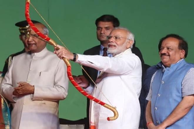 Indian PM Modi at Dussehera