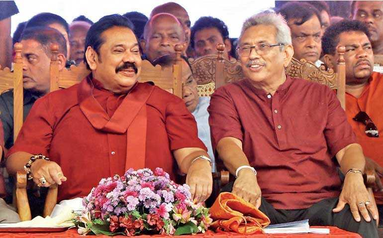 President Gotabaya Rajapaksa with Prime Minister Mahinda Rajapaksa