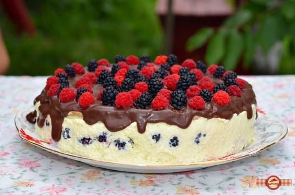 tort cu mouse de ciocolata alba si mure2