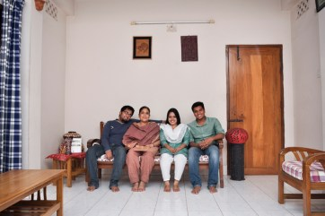 Farhin ( second right) with her family