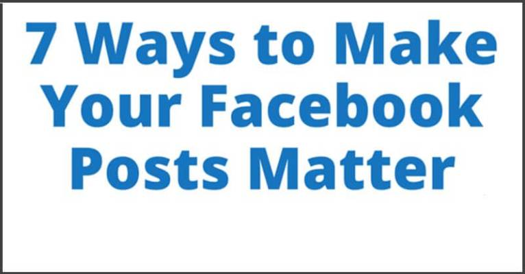 Read more about the article Make Your Facebook Posts Matter