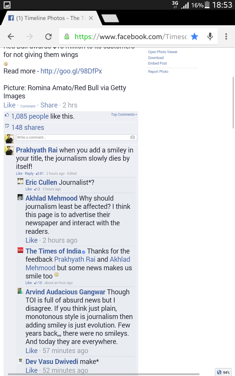 Times of India and fake journalism