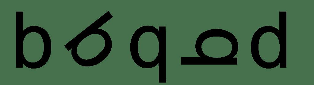 Draaiende letters door dyslexie