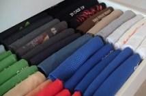 ρούχα σε συρτάρια