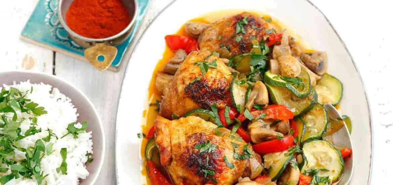 Udka Kurczaka Duszone Z Warzywami