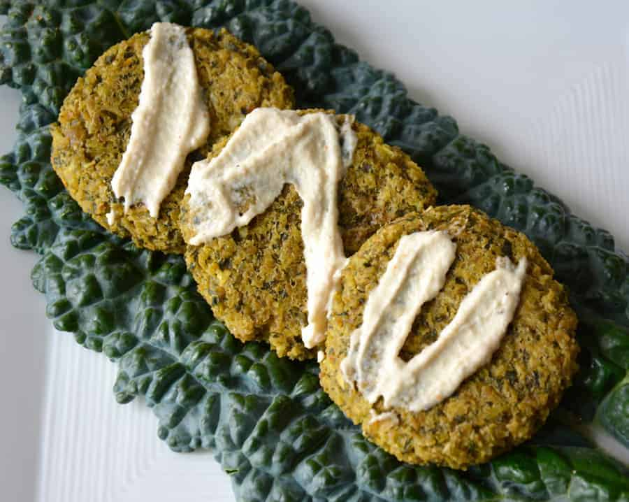 Lemon Falafel with Smoky Tahini