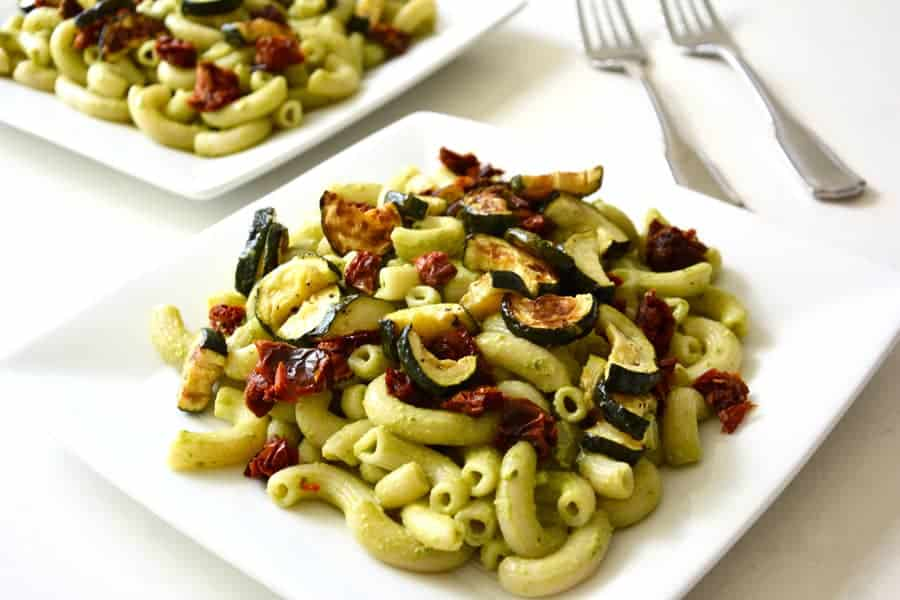 Pesto Pasta with Roasted Vegetables