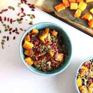 Balsamic Quinoa Salad with Roasted Squash