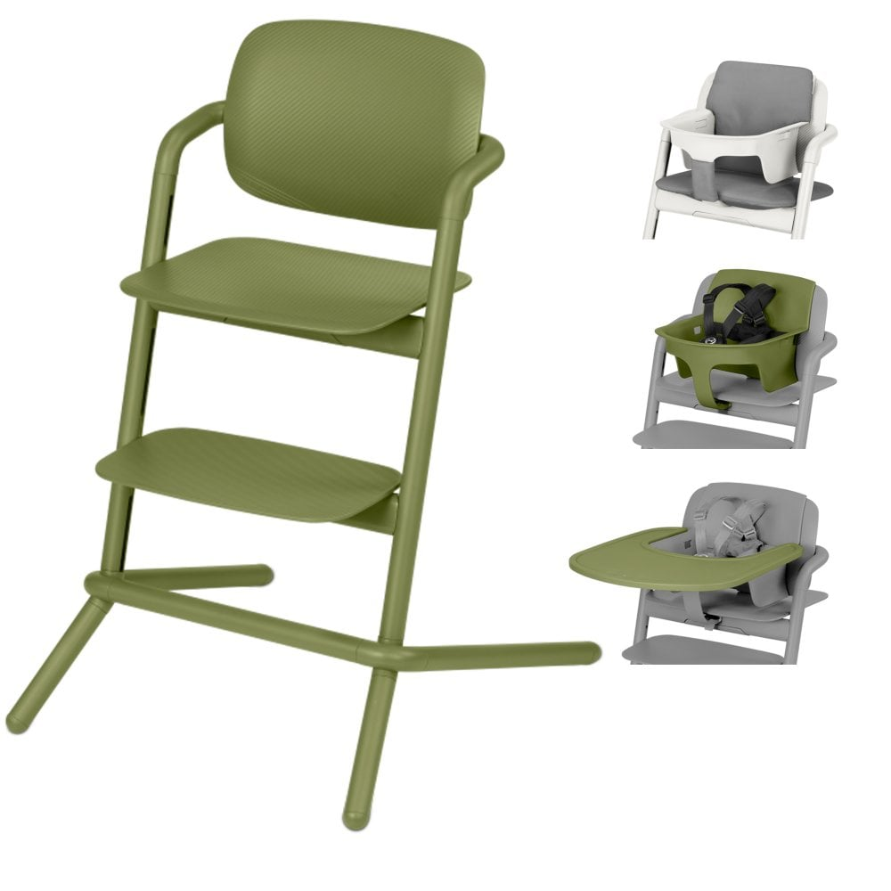 Chair High Chair Cybex Lemo Highchair Baby Seat Tray Storm Grey Comfort Inlay Outback Green