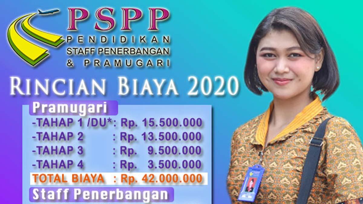 rincian biaya 2020 sekolah pramugari