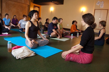 Photo: Seated in meditation
