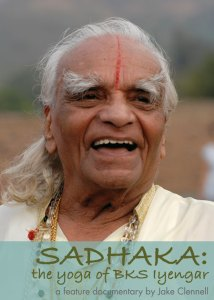 Photo: head shot of yoga teacher Iyengar