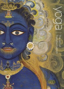Cover art: Hindu god Vishnu in blue and gold