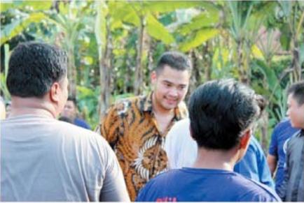Pendiri PSP Foundation PranandaSurya Paloh menemui warga di Deliserdang (DS) dan meninjau lapangan dalam reses, Serdangbedagai hingga Tebingtinggi.