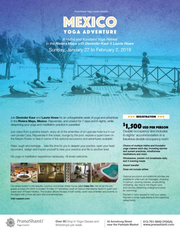 Mexico Retreat Pranashanti Yoga Centre