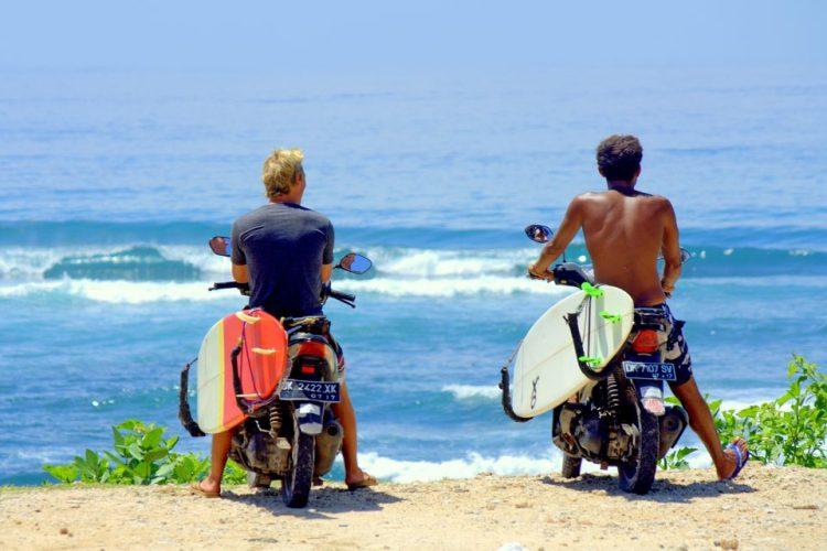 surf bali motorbike
