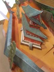 階段や屋根の部分も立体的に作られています。