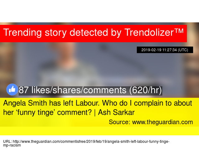 Image result for Angela Smith MP funny tinge