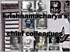 Krishnamacharyas Cheif Colleagues