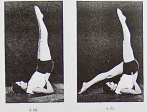 "Figure 2. ""Legs in the Air"" from Building the Body Beautiful: The Bagot-Stack Stretch and Swing System, 1931"
