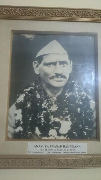 Shri Anasuya Prasad Bahuguna my great grand father, father of my maternal Grandmother- Kamla Uniyal nee Bahuguna