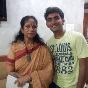Prasobh Ramachandran with Vani Jayaram