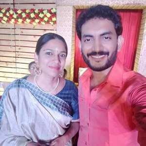Prasobh Ramachandran with Gayatri Ashokan