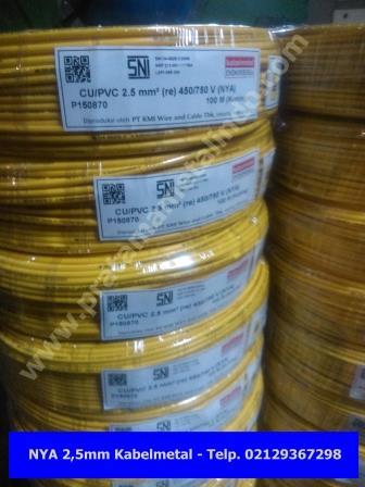 Jual Kabel NYA 2,5 Murah Kabelmetal