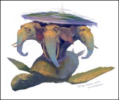 три-слона-черепаха