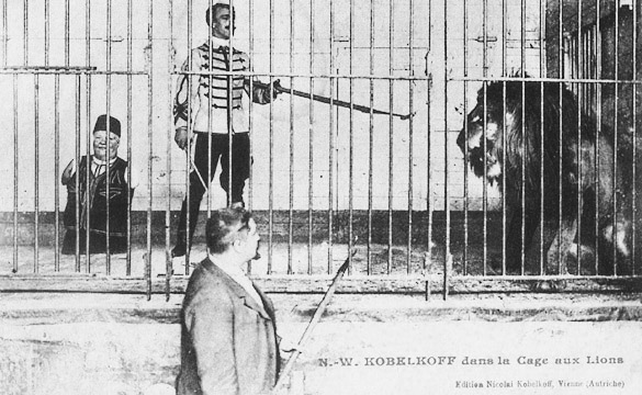 Nikolai Kobelkoffs Auftritt im Löwenkäfig