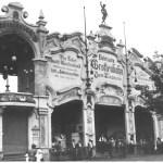 """Grottenbahn """"Zum Lindwurm"""", Ausstellungsstraße 137 (heute Ausstellungsstraße), 1910"""