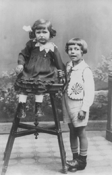 Liselotte Lang und Bruder Alexander